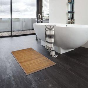 bath mats Bamboo 40 x 50 cm brown Bathroom products Anti-slip mat Waterproof mat