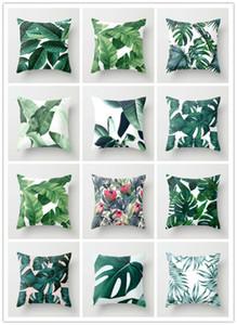 Çiçek Tropik Bitki Yapraklar Yastık Kılıfı Yastık Kapak Ev Dekorasyonu Rainforest Yeşil Yapraklar Bitkiler Koltuk Araba Yastık Kapak atın