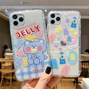 Carton suitable protective shell soft silicone sleeve phone cell cases boy and girl trendy strong and durable wear-resistant of iPhone