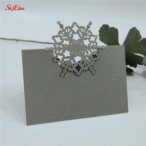 Kart Olay Parti Malzemeleri 7z Tebrik 50pcs Noel Dantel İsim Yer Kartları Düğün Dekorasyon Tablo Dekor Tablo Adı İleti