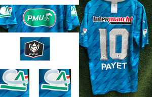2020 Coupe De France Maillot Payet KAMARA RONGIER ALVARO With All SPONSOR Soccer Patch-Abzeichen