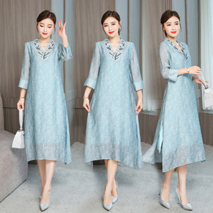 summer Asia & Pacific Islands ethnic Clothing woman lady traditional gown vintage vietnamese aodai qipao dress oriental costume