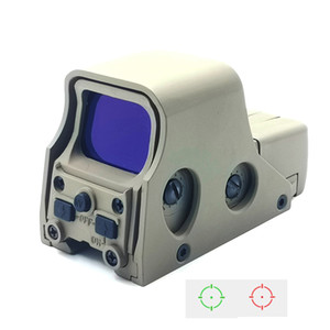 Reflexo holográfico tático Reflexo Verde Verde Ponto Sight Hunting Scope Azul Filme Revestimento Lente Brilho Brotura Ajustável Ajustável Cor de Areia.