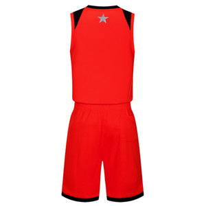 2019 New Blank Basketball jerseys printed logo Mens size S-XXL cheap price fast shipping good quality Red R004