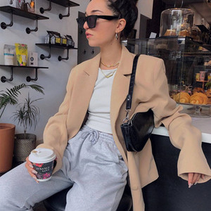 Sexy Aufmaß Solid Color Blazer Langarm-Einreiher Womens Designer Blazer Damen Designer Bekleidung