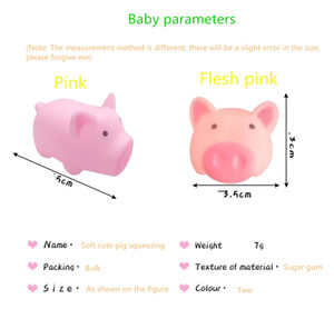 Cartoon soft cute cute pink pig whole person toy vent pig squeezing music pinch called decompression vent toy