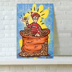 Alec Monopoly Cartoon, Décoration d'intérieur HD Imprimé Art moderne Peinture sur toile, 1 Pièces (Unframed / encadré)