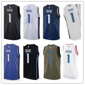 ncaa custom basketball jersery Orlando 1 Jonathan Isaac OrlandoMagic Magics free ship white red yellow basketball wear