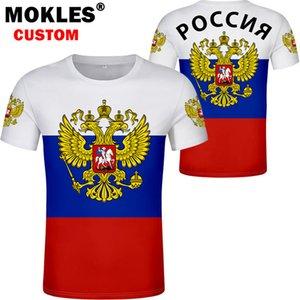 RUSSIE t-shirt numéro sans nom sur mesure rus drapeau t-shirt socialiste russe CCCP urss diy Rossiyskaya ru vêtements union soviétique MX200611