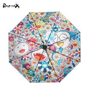 PCS hidratación artículos de la novedad de lujo sombrilla paraguas Sombrilla lluvia mujeres hombres paraguas sombrilla sombrilla kakakiki Murakami Takashi