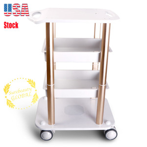 Classical Mobile Wheels Spa Machine Trolley Standing Pedestal For Salon Beauty Machine Aluminum Material Rolling Trolley