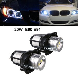 2pcs 1200lm E90 E91 20W Farol Angel Ring Eye marcador halo de luz Led para BMW CLT_60B