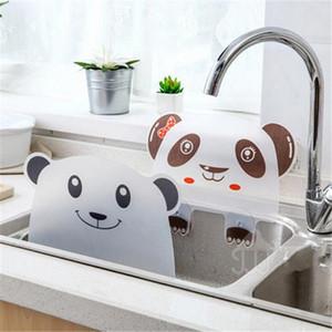 1Pc Kreative Wassersperre Küche Zubehör Gemüse Prevent Wasser spritzt aus Cute Bear Panda Sink Spritzwassergeschütztes Flap Gadget