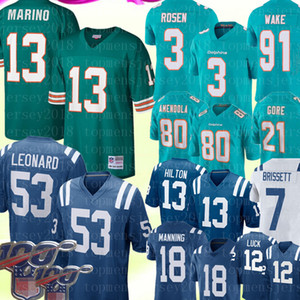 13 Dan Marino Miami # Dolphin 3 Josh Rosen Jersey Indianapolis 53 Darius Leonard Colt 13 T.Y. Hilton 7 Jacoby Brissett Peyton Manning