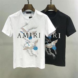 2019 Trendy T-shirt Moda nuovo collo rotondo bianco e nero modelli selvatici casuale delle magliette Pop della maglietta dell'uomo cotone casuale M-3XL