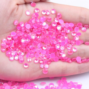 SS6-SS30 Luminous Rhinestones Glitter Glass Gem 3D Charm Flatback Strass Fluorescence Rose AB Color Nail Art Decorations