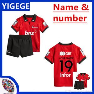 2018 CRUSADERS Super Rugby crianças JERSEY Nova Zelândia Super Rugby CRUSADERS SUPER RUGBY MINI KIT camisa tamanho 18-28 (pode imprimir)