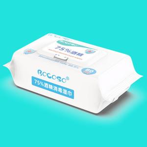 80pcs alcohol Desinfección Esterilización de ratón flip-top de la piel limpieza Toallitas húmedas Antiséptico 40JD Limpiador Esterilización