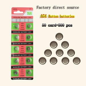 500PCS مصنع المصدر الساخنة بالجملة AG4 377 بطارية زر LR626 626 1.55V SR626SW CX66 ساعة البطارية زر لمشاهدة لعبة عملة البطارية