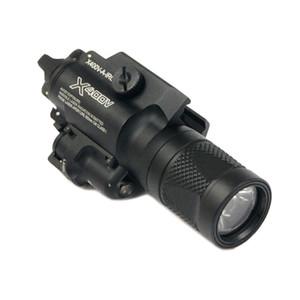SF X400V LED 총 빛 사냥 X400 소총 권총 화이트 라이트 레드 레이저를 만들기 전술 CNC