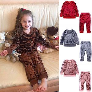 4 цвета весна осень детская одежда для младенцев Мальчики Одежда наборы дети костюмы спортивный костюм флис девочек Повседневный комплект Оптовая JY832