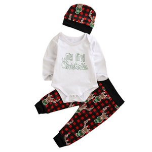 Christmas Infants Climbing Clothing Baby Care Suits with Hat Party Gift Long Sleeves Autumn