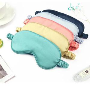 Silk Sleep Eye Mask & Blindfold with Elastic Strap Soft Eye Cover Eyeshade for Night Sleeping, Travel,