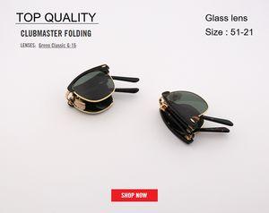 novo designer de moda clube Mulheres mestre óculos de marca acetato dobrável Feminino Mens Vintage Moda UV400 topo 2176 dobrável óculos de sol Gafas
