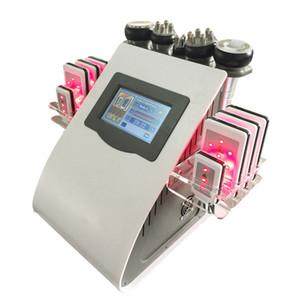 Ultrasonik liposuction kavitasyon zayıflama makinesi yağ selülit giderme donanımları azaltmak zayıflama 8 adet lipo lazer ped RF radyo frekansı