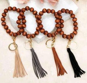 여성 나무 열쇠 고리 팔찌를위한 체인 | 개인 나무 구슬 열쇠 고리 | 나무 모노그램 선물 | 사용자 정의 모노그램 열쇠 고리 (Key Fob)