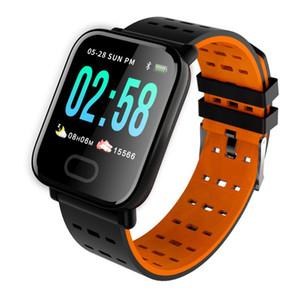 A6 سوار ذكي قياس ضغط الدم شاشة ملونة اللياقة تعقب ووتش IP67 للماء رصد معدل ضربات القلب Smartband