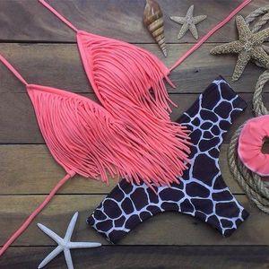Triangl Swimwear 2019 Dois ternos Biquinis Swimwear das mulheres Push Up acolchoado Bra Swimsuit Womens Micro Bikini maiô