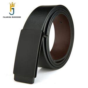 FAJARINA Brand Men's Quality Design PU 2nd Layer Genuine Leather Black Fashion Belts Male Jeans Belt Apparel Accessories for Men Y200520