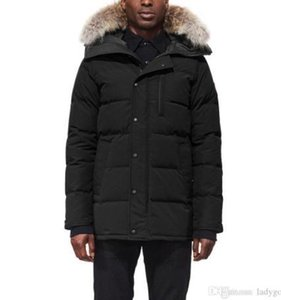 20ss Canada Men Winter Down Parkas Hoodie Black Navy Gray Jacket Winter Coat Parka Fur Sale With Free Shipping Outlet73d7#