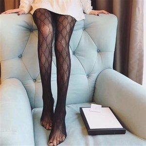 Elegante Letter clássico malha meia-calça Mulheres Dança calças justas Night Club Sexy Stockings Lady Partido apertado Silk alta Pantyhose