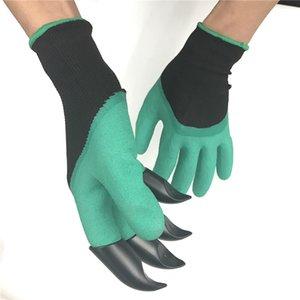 Hot Garden Gloves 4 ABS Plastic Garden Genie Guantes de goma con garras Rápido, fácil de cavar y plantar para cavar Plantar