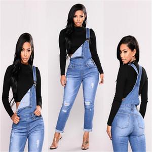 Kadınlar Ripped Denim Jeans Bayan Delik Uzun Tulum Ince Kot Kaba Pamuklu Bez Yüksek Bel Kalem Streç Pantolon Artı Boyutu Fermuar kot