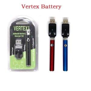 510 Battery Blister Kit 350 650 100mah LAW V-Vape Vertex Preheat Vape Pen 5 0 Thread USB Individual Blister Pack Vape Battery N