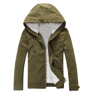 hot style Men winter thicken warm cotton-padded clothes young fleece hooded jacket Winter Corduroy Jackets Coat Army parkas