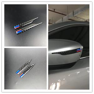 2 ADET Evrensel Karbon Fiber Dikiz Aynası Sticker Anti-ovma Şeritler Koruyucu için BMW E90 E60 F30 F10 F20 X1 X3 X5 X6 Styling Anti-çarpışma