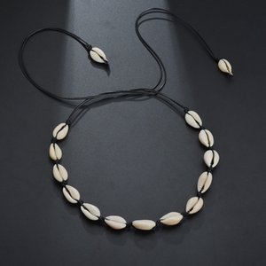 Wholesale Fashion Bohemian Style Shell Necklace Simple Rope Chain Natural Seashell Jewelry Best Gift for Women Girls