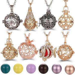 Popular multi Styles oco colar Vintage Fruit Jóias Música Bell Ball Colar Aroma-Essencial medalhão Pendant