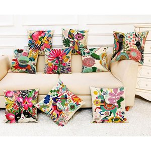 Cotton Linen Square Home Decorative Throw Pillow Case Sofa Waist Cushion Cover Waist Throw Pillow Covers Pillowcase For Sofa