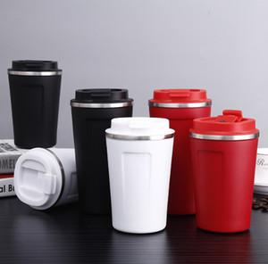Последние кружки 12 унций и 17 унций, двухслойные кофейные чашки из нержавеющей стали, скользящие крышки, поддержка пользовательских Starbucks logo