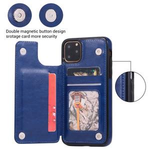 iPhone cuoio dell'unità di elaborazione di caso di vibrazione per 11 Pro Max 5.8 6.1 6.5 2019 del supporto della fessura Card Cover on per iPhone 11 2019 11Pro sedere max Indietro