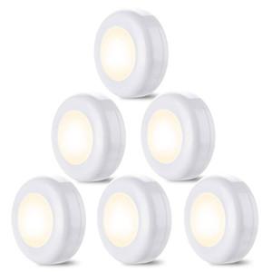 Yeni dokunmatik sensör LED Dolap Işıkları 6 Paket Kablosuz LED Puck Işıkları Kabine Altında Aydınlatma Dim Akülü Gece Işıkları