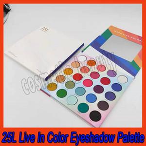 .Eye Makeup 25L Live In Color Matte eyeshadow palette Make Life Colorful 25 Color Eye Shadow Palette Matte Shimmer Eye shadows