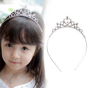 1PC Baby Girls Woman Princess Hairband Kids Party Bridal Crown Headband Crystal Diamond Tiara Hair Hoop Hair bands Accessories