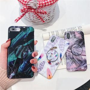 Heißer verkauf tarnung marmor malerei muster telefonkasten für iphone xs max xr x 6 6s 7 8 plus mit halterung