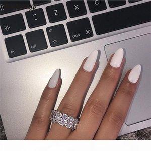 choucong Stunning Limited Edition Eternity Band Promise Ring стерлингового серебра 925 пробы 11шт овальные бриллиантовые обручальные кольца для женщин